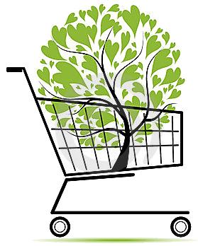 shopping-cart-green